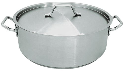 Update International (SBR-15) 15 Qt Induction Ready Stainless Steel Brazier w/Cover
