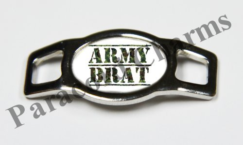 Army Brat Shoes - Military - Army Brat - Design #102 - Stainless Steel 550 Paracord Shoelace Charm - NEW