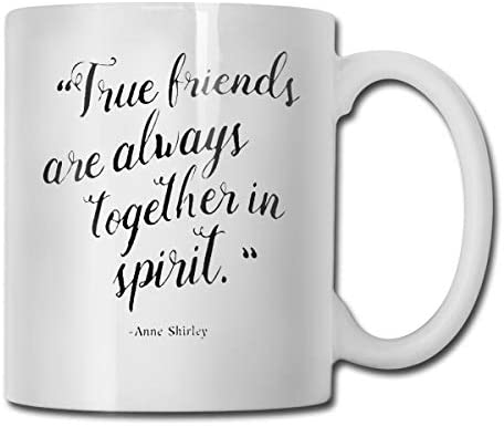 antspuent True Friends are Always Together in Spirit Funny Coffee Mug - 11 Ceramic Coffee Cup - Best Gifts Idea for Christmas, Valentine and Birthday, Father's Day and Mother's Day Cup