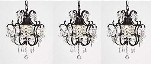Black Wrought Iron Pendant Light in US - 1