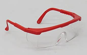 SEOH Safety Glasses, RED Frame