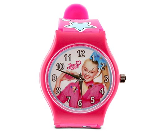 JoJo Siwa Pink Analog Watch Hearts and Stars