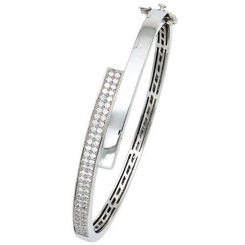 Les bracelets bracelet bracelet pour femme en argent 925 avec zircones ovales