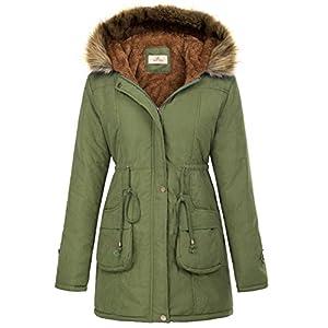 32a63df39 GRACE KARIN Womens Hooded Warm Winter Thicken Fleece Lined Parkas Long Coats