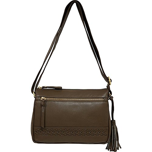 Crossbody Taupe American East Braided West Leatherworks Great wPgqpFw