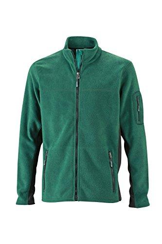 In green Resistente Uomo Pile Workwear Fleece Jacket Materiale Giacca Dark Men's Misto black 45qCAwpx6