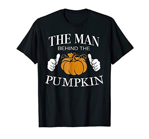 The man behind the pumpkin, Funny pregnant Halloween T-shirt
