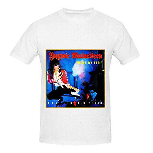 Yngwie J Malmsteen Trial By Fire Live In Leningrad Jazz Men Graphic Tee White