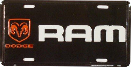 Smart Blonde Dodge Ram Black Novelty Vanity Metal License Plate Tag Sign 2660
