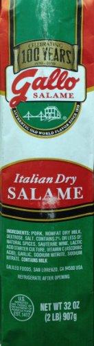 Dry Salami - Gallo Italian Dry Salame Chub 32oz