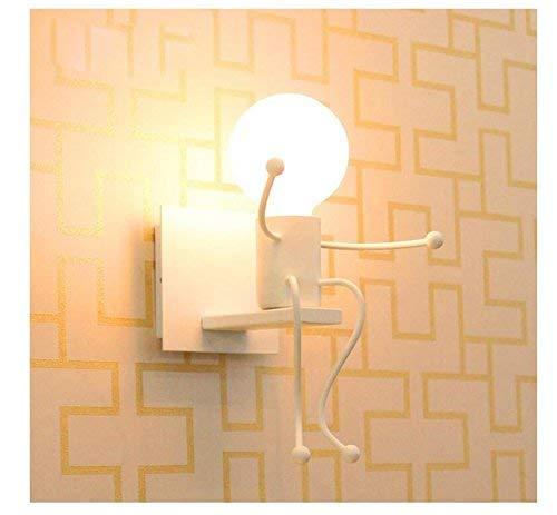Lámpara para habitación infantil Apliques de pared vintage industrial E27 lámpara de metal lámpara de pared latón acabado simple cabeza de cobre lámpara de pared con casquillos para casa, bar, restaurantes, cafetería, club Decoración, habitación infantil