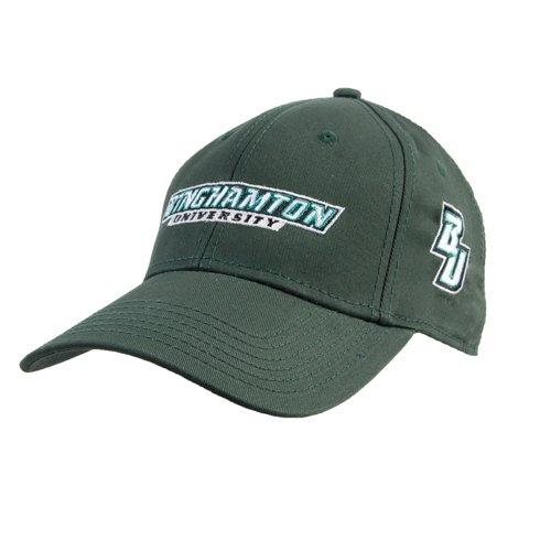 Binghamton Dark Green Heavyweight Twill Pro Style Hat 'Binghamton University Flat' ()