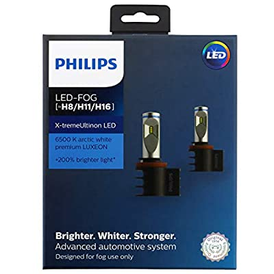 Philips H8/H11/H16 X-tremeUltinon Automotive LED Fog Light, 2 Pack: Automotive