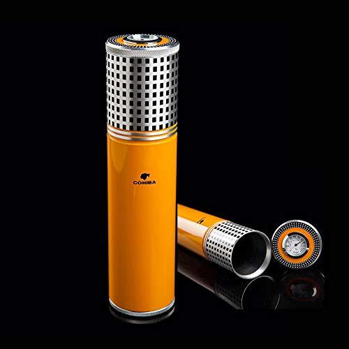 COHIBA/喫煙具/葉巻/シガーチューブ/COHIBA Travel Smoking Tobacco Cigar Jar Storage w/Humidor Humidifier Hygrometer   B07MF1RTZC