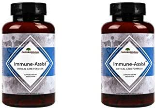 Aloha Medicinals – Immune Assist Critical Care Formula – Organic Mushrooms - Cordyceps sinensis, Agaricus Blazei, Lentinula edodes, Grifola frondosa, Ganoderma lucidum, Coriolus versicolor (2 Pack)