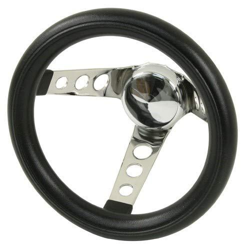 Empi 79-4111 Poly-Foam Steering Wheel, Chrome 3 Spoke 10