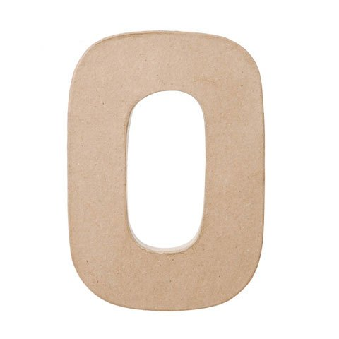 Bulk Buy: Darice DIY Crafts Paper Mache Letter O 8 x 5.5 x 1 inches (3-Pack) 2862-O