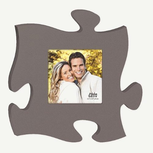 Grey Puzzle Photo Frame 12 X 12 by P Graham Dunn
