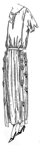 Athenians Costume (1922 Dress of Athenian Crepe with Flowers Pattern)