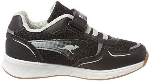 KangaROOS Unisex-Kinder Roji EV Sneaker Schwarz (Jet Black/Vapor Grey)