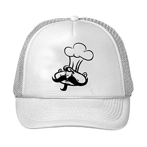 Speedy Pros Chef Adjustable High Profile Trucker Hat Cap White