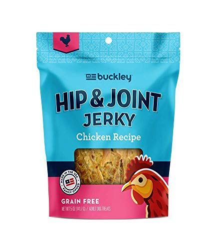 Buckley Functional Healthy Hip And Joint Dog Jerky Treats, Chicken, 5 Ounce(Packaging May Vary)