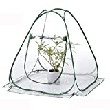 TECHSON Mini Pop-up Greenhouse, Protected Gardening Plant House, Portable Flower Cover Shelter for Outdoor Backyard