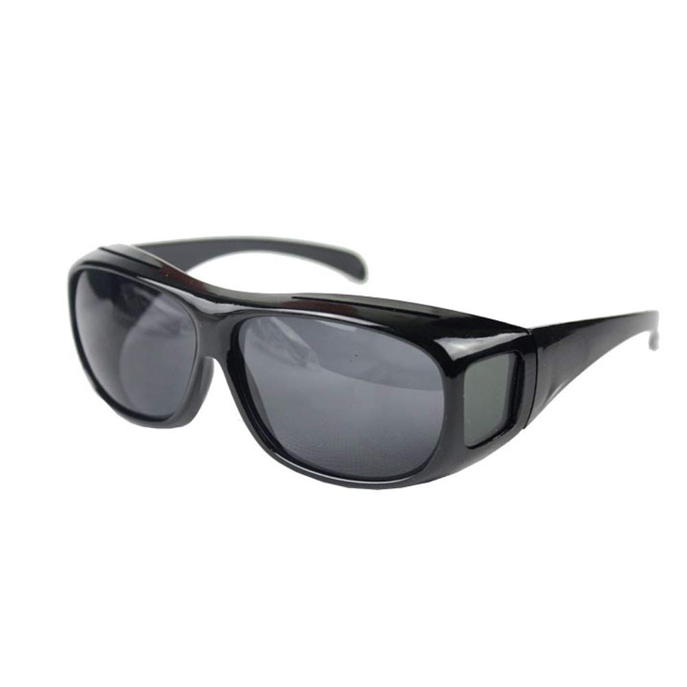 minishop659 Night Vision Goggles Fit Over Prescription Glasses Wrap Arounds Sunglasses Driving Protection Black