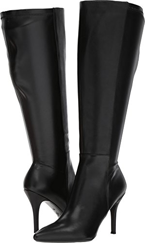 Nine West Women's FALLON9X9W Leather, Black/Black Wide Leather, 7 M - Boots West Nine