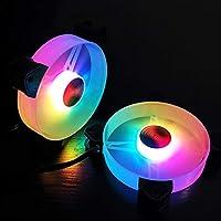 Jade Ring RGB Chassis Fan 12cm Desktop Computer Cooling Fan Magic Color Color Eclipse Silent Fan