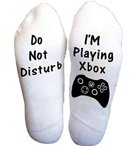 PASATO Men Women Unisex Do Not Disturb Great Gamer Gift Letter Funny Ankle Short Socks Deodorant Cotton Socks(8-Multicolor,Free Size)