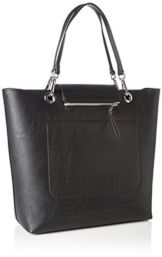 Tommy Hilfiger Effortless Novelty, Borse Tote Donna, Nero (Black/Pewter), 12.5x33x38 cm (B x H x T)