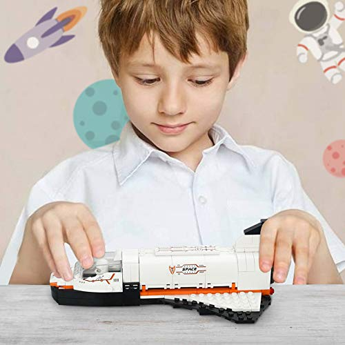 Space Shuttle Building Blocks Set, Space Ship Building Bricks Pack, Space Construction Toys for Boys 6-12, 3 in 1 (168 Pcs)
