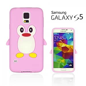 OnlineBestDigital - Penguin Style Soft Silicone Case for Samsung Galaxy S5 - Pink