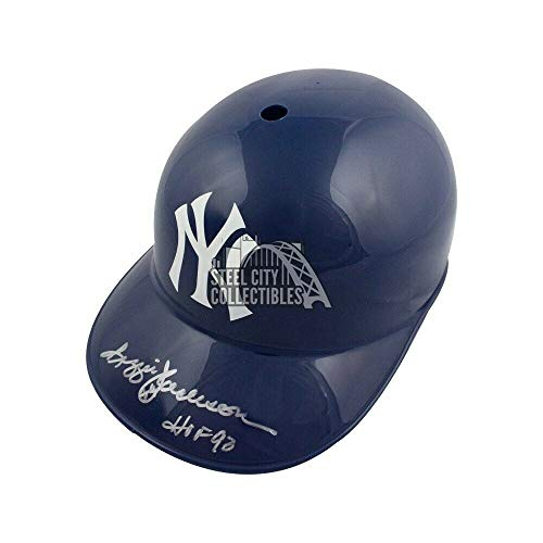 Reggie Jackson HOF 93 Autographed Signed Yankees F/S Souvenir Replica Batting Helmet JSA - Authentic Memorabilia