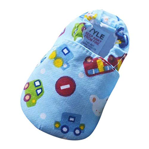 Baby Shoes Infant Toddler Cute Print Kid Girls Boys Soft Sole Slip-On Cotton First Walkers 0-18M