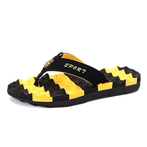 Verano Flip Zapatillas de Beach Shoes Amarillo Slide Sandalias Zapatillas de Flop Hombre Water Masaje Botia CqwXx0C