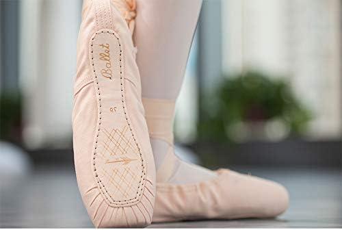 Color : Canvas+Sponge, Size : 38 EU Ruanyi Profession Pink Ballet Shoes Pointe Straps Exercise Satin Canvas Silicone Sponge for Girls Women
