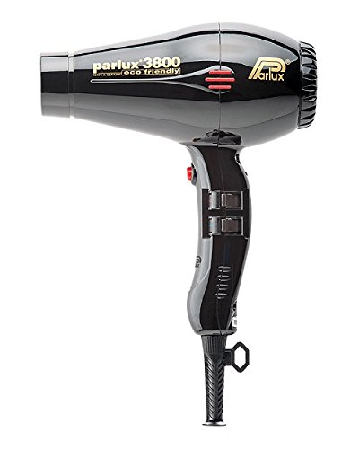 Parlux PAR4014 Pro 3800 Ionic and Ceramic Hair Dryer, Black, 2100 Watt