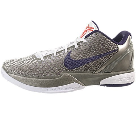 Nike Zoom Kobe VI China Edition Mens Basketball Shoes Metallic Pewter/Ink-White-Crimson 429659-006-10.5 (Nike Zoom Kobe 6)