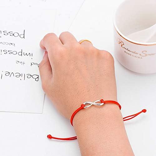 2 Stücke Unendlichkeit Form Paar Passende Beziehung Geflochtene Armbänder Set