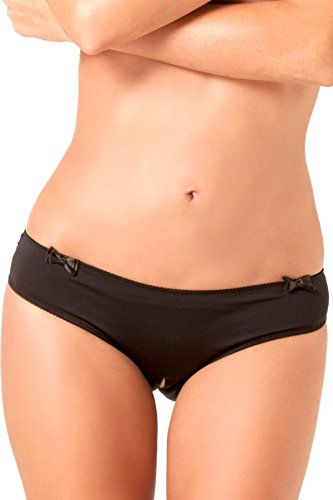 Women's Sexy Lingerie Hipster Crotchless Panties Open Back Underwear (Small / Medium)