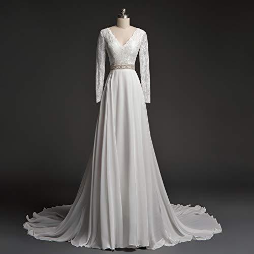 A-line Scoop Sleeveless Floor-length Wedding Dresses For ()