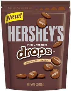 HERSHEY'S CHOCOLATE CANDY DROPS POUCH 8 OZ (Hershey Chocolate Drops)