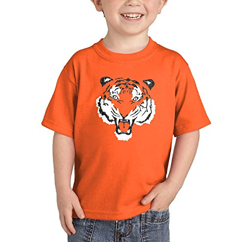 - Tiger Face - Fierce Spirit Animal Infant/Toddler Cotton Jersey T-Shirt (Orange, 3T)