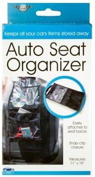 Kole Imports Auto Seat Organizer Small 11x19