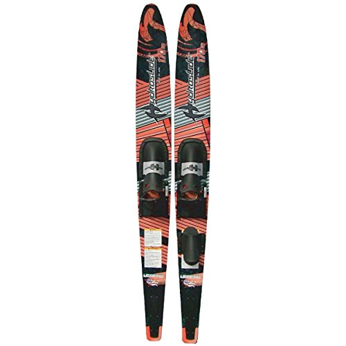 Hydroslide Legend Adult Deluxe Waterskies, Red/Black/Gray/White