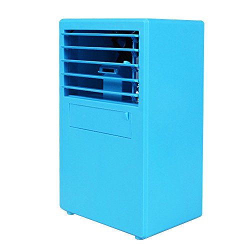 14.5x10x24.3cm Mini Personal Air Conditioner Fan Space Cooler Desktop Fan Quiet Table Fan Evaporative Air Circulator Cooler Humidifier Bladeless for Office Dorm(blue) by LVOERTUIG