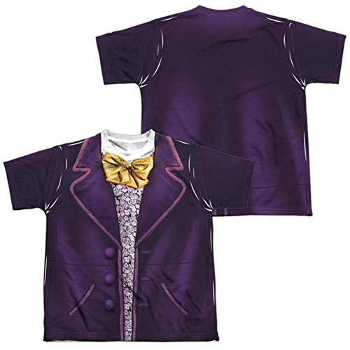 Youth: Willy Wonka And The Chocolate Factory- Wonka Costume Tee (Front/Back) Kids T-Shirt Size M ()