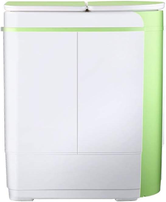 RMXMY Lavadora Mini Lavadora Doble pequeña portátiles for bañera y secador rotatorio 2,5 kg / 5,5 Libras Capacidad de Lavado BLU-Ray UV bacteriostática Apartamento Dormitorio Compacto y Duradero